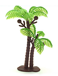 Micro Landscape Plants  Sand Table Model Simulation Tree Ornaments Meaty Palm 100Pcs Gardening