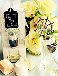 Recipient Gifts - 1Piece/Set , Nautical Ship's Wheel Wine Bottle Stoppers Wedding Presents, Party Favors