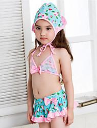 Bañador Chica de-Playa-Estampado-Poliéster-Verano-Azul