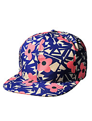 Ms. Spring Flowers Geometric Patterns Printed Fashion Hip-hop Baseball Cap
