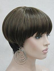 centre de la mode peau dot top fraise mix blond bob noir style champignon perruque avec une frange