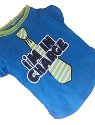 Camiseta para Perros Azul Verano XS / S / M Algodón