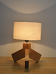 Modern Create Fabric Shade Wooden Material Table Lamp Decorate in the Foyer / Bedroom / Study Room Dest Lamp
