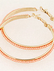 Серьги-кольца Резина Сплав Мода Круглый Белый Черный Синий Розовый Золотой Бижутерия Для вечеринок Повседневные 1 пара