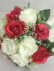 Свадебные цветы Круглый Розы Букеты Свадьба Партия / Вечерняя Атлас 25 см