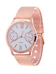 Couple's Watch Roman Numeral Geneva Steel Quartz Watch Lovers(Assorted Colors) Cool Watches Unique Watches