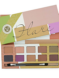 10 Eyeshadow Palette Matte Eyeshadow palette Pressed powder Normal