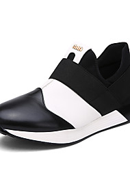 Men's Shoes Leather Outdoor / Casual Fashion Sneakers Outdoor / Casual Walking Flat Heel Others Black / Red