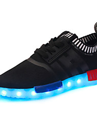 Boy's Sneakers Spring Fall Comfort Light Up Shoes Tulle Casual Athletic Platform Lace-up Black Blue