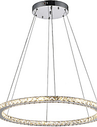 Round Ring LED Crystal Pendant Light Ceiling Chandeliers Lighting Lamp Fixtures for Indoor Hotel Home Bar CE FCC ROHS