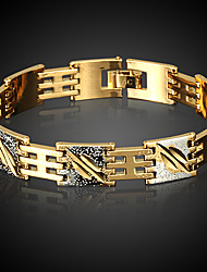 Men's Chain Bracelet Gold Non Stone