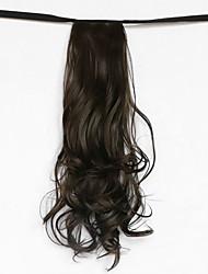 onda de água marrom escuro tipo de atadura sintética peruca de cabelo rabo de cavalo (cor 8)