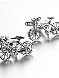 Men's Fashion Bike Style Silver Alloy French Shirt Cufflinks (1-Pair) Christmas Gifts