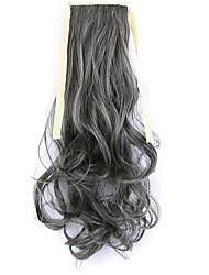 longitud 50 cm negro fábrica de la venta directa de tipo cola de caballo se unen rizo de pelo cola de caballo (color 4a / 613)