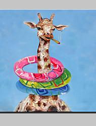 большая картина маслом ручной росписью спасатель жираф животное холст картины стены искусства для домашнего декора с рамкой