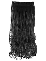 Length Black and Brown 60CM High Hemperature Wire Wig Hair Extension Synthetic Hair