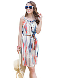 2016 Summer Women's Bohemian Beach Print Dress