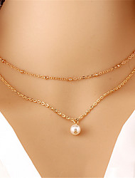 Women's Pendant Necklaces Pearl Necklace Pearl Imitation Pearl Alloy Fashion Gold Jewelry Wedding Party Daily Casual 1pc