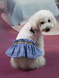 Dog Dress White Dog Clothes Summer / Spring/Fall Jeans Casual/Daily / Fashion