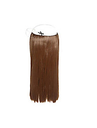 "1pc/lot 8'-30"" Brazilian Virgin Human Hair Flip In Hair Extension 100g/pc Straight Hair #1b,#2,#4,#6,#27,#613"