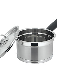 The Thickened Double Bottom Stainless Steel Milk Pan 18cm(3-4 People To Used)Cooker Gas Stove Universal