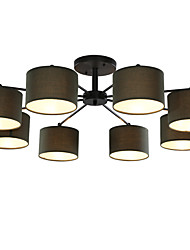 8 Light 39 inch Ceiling Light Fixture, Black And White