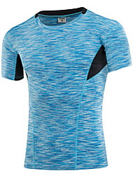 Men's Running T-Shirt Quick Dry Sweat-wicking T-shirt Top for Exercise & Fitness Running Black Gray Yellow Red Blue M L XL XXL XXXL
