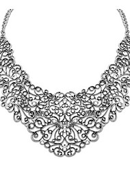 Women's Pendant Necklaces Imitation Pearl Alloy Flower Carved Gold Black Silver Jewelry Wedding Party Daily Casual 1pc