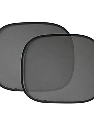 2pcs 44 * 36cm schwarze Nylon-Mesh-Seiten Zaun Anti-UV Sonnen Isolierung Sonnenschutz