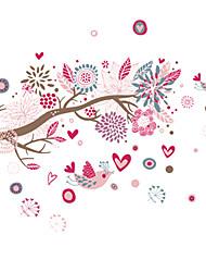 Животные / ботанический / Мультипликация / Натюрморт / Мода / Цветы / Отдых Наклейки Простые наклейки,PVC 90*60*0.1
