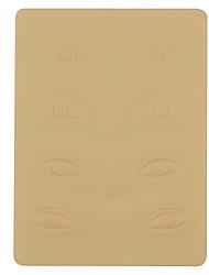 3D Eye Tattoo Practice Skin Blank Silicone Permanent Needle Eyebrow Tattoo Machine Practice Skin Blank Sheet Eye Makeup