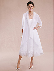 Wedding  Wraps Coats/Jackets 3/4-Length Sleeve Chiffon White Wedding Party/Evening