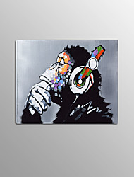 Gorilla Monkey with Headset 1 Panel Framed Photo Painting on Canvas for Wall Decoration Painting Home Decor