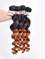 Омбре Бразильские волосы Свободные волны волосы ткет