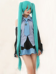 High Quality Vocaloid Hatsune Miku 2 Ponytails Cosplay Wig