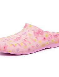 Zapatos de mujer-Tacón Plano-Zapatillas-Pantuflas-Casual-PU-Rosa