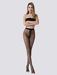 Women's 10D peep-toe t-crotch pantyhose