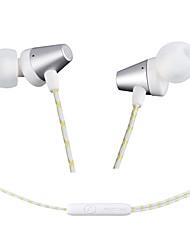 modocee r2 sport stéréo métal écouteurs casque hifi casque avec microphone pour xiaomi iphone et android