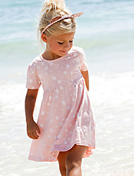 Girl's Cotton Sweet Cute Heart-shaped Printing Dress