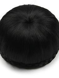 Kinky фигурная черный европы невесты человеческих волос монолитным парики шиньоны SP-002 2