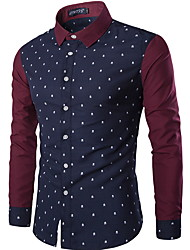 Luxury Floral Skull Printed Men's Shirt Long Sleeve Turn Down Collar Personality Casual Fashion Men Tops Dress Shirt