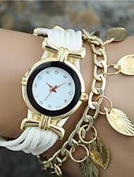 Women's Fashion Watch Bracelet Watch Quartz Fabric Band Black White Blue Red Gold Rose