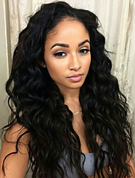 2015 Fashion 10-28inch 100% Peruvian Virgin Hair Loose Wave Natural Color Full Lace Wigs