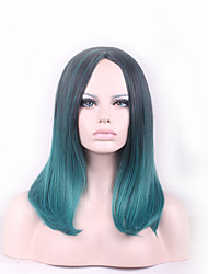 Best-selling Europe And The United States BOBO Wig Wig  Black Gradient Green