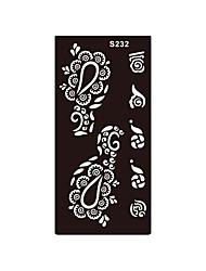 corps 1pc temporaire peinture d'art fleur aérographe henné pochoir cadeau autocollant de tatouage non toxique respectueux de