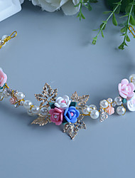 Women's / Flower Girl's Pearl / Rhinestone / Alloy / Resin Headpiece-Wedding / Special Occasion Headbands 1 Piece