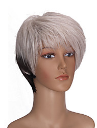 Short Multi-color Color Straight Hair European Synthetic Wig