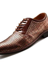 Chaussures Hommes Bureau & Travail / Décontracté / Soirée & Evénement Noir / Marron / Gris Similicuir Richelieu