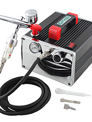 ophir 110v, 220v mini kit aérographe compresseur d'air à double action pour passe-temps de maquillage nail art