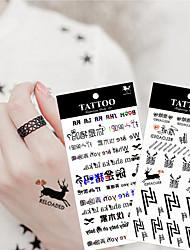 10pcs / lot novo desenho animado de alta qualidade à prova d'água etiqueta do tatuagem temporária arte corporal maquiagem sexy